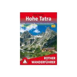 Hohe Tátra túrakalauz, Hohe Tátra térképes útikalauz Bergverlag Rother német   RO 4503