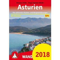 Asturien túrakalauz Bergverlag Rother német   RO 4526