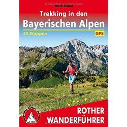 Bayerischen Alpen, Trekking in den túrakalauz Bergverlag Rother német   RO 4534