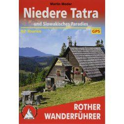 Niedere Tatra und Slowakisches Paradies Rother túrakalauz, Alacsony-Tátra túrakalauz, Alacsony Tátra és Szlovák Paradicsom térképes útikalauz Bergverlag Rother német   RO 4503
