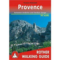 Provence túrakalauz Bergverlag Rother angol   RO 4801