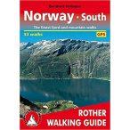 Norway South túrakalauz Bergverlag Rother angol   RO 4807