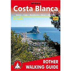 Costa Blanca túrakalauz Bergverlag Rother angol   RO 4837