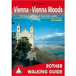 Vienna I Vienna Woods túrakalauz Bergverlag Rother angol   RO 4838