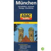 München térkép ADAC 2014 1:20 000