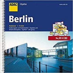 Berlin atlasz ADAC  1:15 000 Berlin várostérkép
