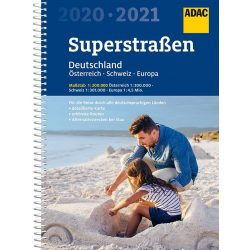 Németország autós atlasz ADAC spirál 1:200 000  2020/2021  Németország, Ausztria, Svájc atlasz superstrassen