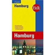Hamburg térkép Falk  1:20 000