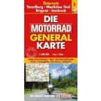 Ausztria, Vorarlberg motoros térkép fóliás  1:200 000
