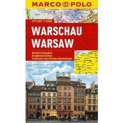 Varsó térkép vízálló Marco Polo 2013 1:15 000  Warszava térkép