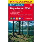 30. Bajor erdő térkép Marco Polo Bayerischer Wald 1:110 000
