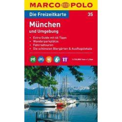 35. München és környéke turista térkép  1 : 110 000 Marco Polo