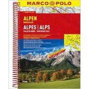 Alpok atlasz Marco Polo Alpok autótérkép 1:300 000  2019
