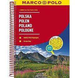 Lengyelország atlasz Marco Polo 1:300 000   2017