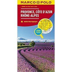 Côte d'Azur térkép, Provence térkép Marco Polo  1:300 000