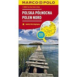Lengyelország észak térkép Marco Polo  1:300 000 Észak-Lengyelország térkép