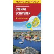 Svédország térkép Marco Polo Sweden map 2016 1:800 000