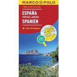 Spanyolország térkép és Portugália térkép Marco Polo 2016 1:800 000  Andorra