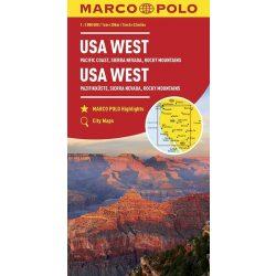 USA West térkép Marco Polo 1:2 000 000