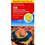 USA térkép Marco Polo 2017 1:4 000 000