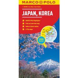 Japán térkép Marco Polo 1:2Mio Japán, Korea térkép