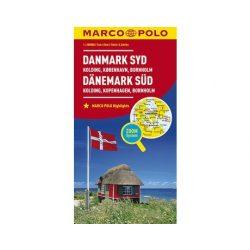 Dánia térkép Marco Polo, Dánia dél autótérkép 2017 1:200 000