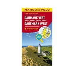 Dánia térkép Marco Polo, Dánia nyugat autótérkép 2017 1:700 000