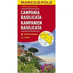 Campania térkép, Basilicata térkép Marco Polo 1:200 000