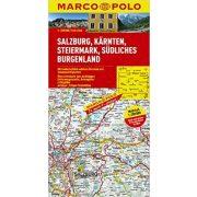 Salzburg térkép, Dél-Burgenland térkép Marco Polo 1:200 000 Karintia térkép