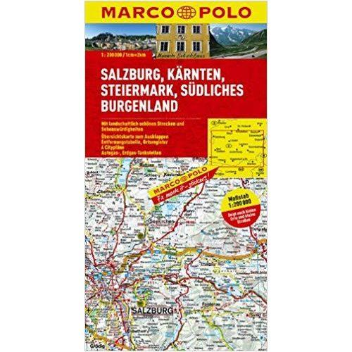 Salzburg Terkep Del Burgenland Terkep Marco Polo 1 200 000