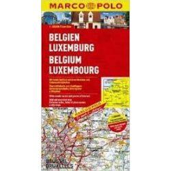 Belgium térkép, Luxemburg térkép Marco Polo 1:200 000