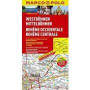 West Bohemia térkép, Nyugat Bohémia térkép Marco Polo 2014  1:200 000  Közép-Bohémia térkép