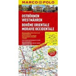 East Kelet Bohemia térkép, West Moravia térkép Marco Polo 2012/16  1:200 000