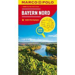 Bajorország észak térkép Marco Polo 2012 1:200 000