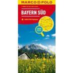 Bajorország dél térkép Marco Polo 2016 1:200 000