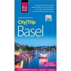 Basel térkép + német nyelvű Basel útikönyv