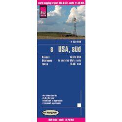 USA 8. Süd-USA térkép Reise  1 : 1 250 000