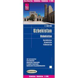 Üzbegisztán térkép Reise, Usbekistan térkép vízálló 2018,  1 : 1 000 000