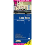 Kuba térkép Reise, Cuba térkép 1:650 000  2017  Kuba és Havanna térkép