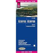 Azori szigetek térkép Reise 2017 1:70 000 Azori térkép