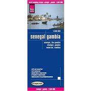 Gambia térkép, Senegal térkép Reise 1:550 000 Szenegál térkép