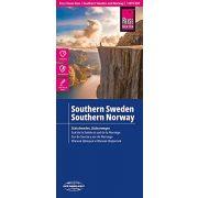 Dél-Svédország térkép, Dél-Norvégia térkép vízálló Reise 2016 1:875 000