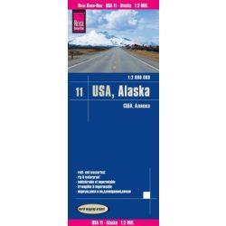 USA 11. Alaszka autós térkép, Alaszka térkép Reise  1 : 2 000 000