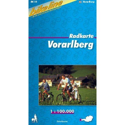 Vorarlberg kerékpáros térkép