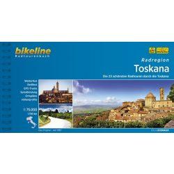 Toszkána kerékpáros atlasz Esterbauer 1:75 000  Toszkána kerékpáros térkép