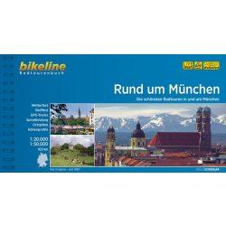 München kerékpáros térkép Rind um München Radweg kerékpáros atlasz Esterbauer 1:50 000, 1:20 000