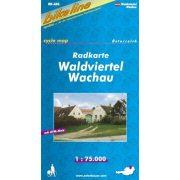 Waldviertel térkép, Waldviertel Wachau kerékpár térkép Esterbauer 1:75 000  RK-A03