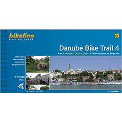 4. Danube Bike Trail kerékpáros atlasz Duna menti kerékpárút térkép Esterbauer 1:75 000  Duna kerékpáros térkép