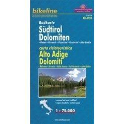 Dél-Tirol - Dolomitok kerékpáros térkép 1:75 000