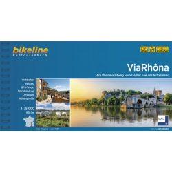 Via Rhona Radweg kerékpáros atlasz Esterbauer 1:75 000